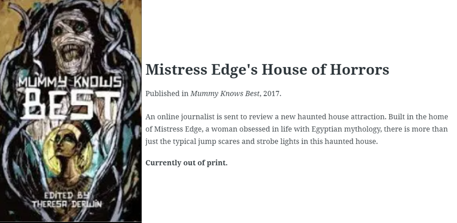 mistress edge's house of horrors