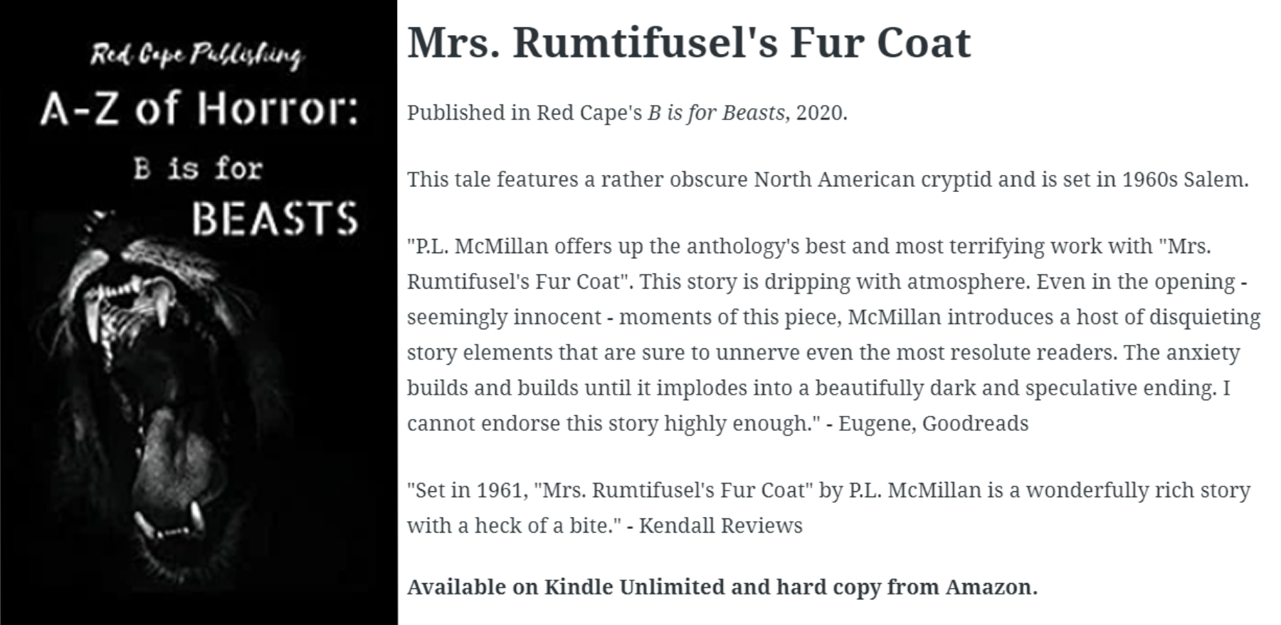 Mrs. Rumtifusel's Fur Coat